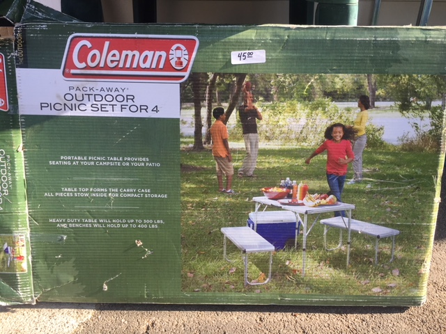 Remarkable Coleman Pack Away Table Set For 4 Pictures - Best Image ...